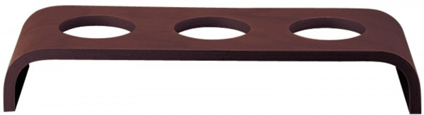 Event Holzplattform niedrig dunkelbraun