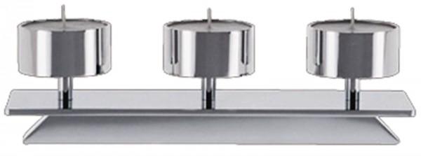 Kerzenhalter Trave 6, B: 58cm D: 6cm verchromt glanz