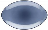 Equinoxe Servierteller oval, 35x22x4 cm, blau