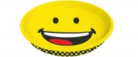 Smiley Tablett rund, Emoticon happy Ø33x4 cm