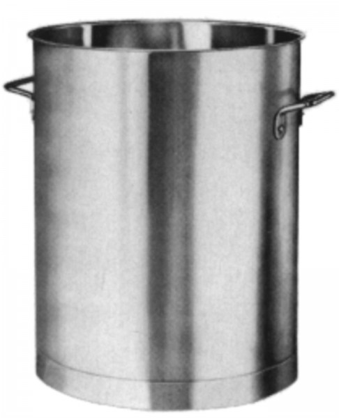 Behälter mit Bodenreif 27 cm 20 lt o/Deckel