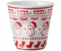 6x Cappuccino Knitterbecher 18 cl, Santa