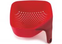 Sieb quadratisch klein, rot, 16x9 cm