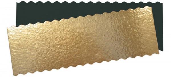 Untersetzer für Cake 5 Stk. gold/schwarz 30x10 cm