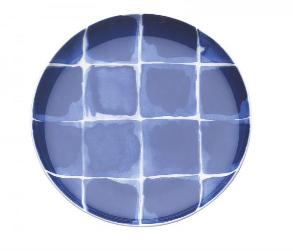 Indigo Appetizer Teller, kariert, b/w, Ø 15.5 cm