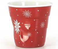 6x Espresso Knitterbecher 8cl, Weihnachtsblume