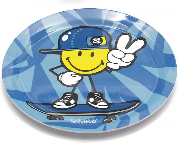 Smiley Kid Boy Teller blau 20 cm