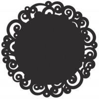 Tortenspitze schwarz, f. Torten/Kuchen etc., Ø30. cm, 6 Stk.