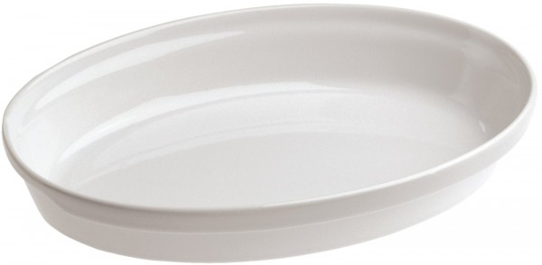 4x Auflaufform oval, 19.5x11x4.5 cm, weiss