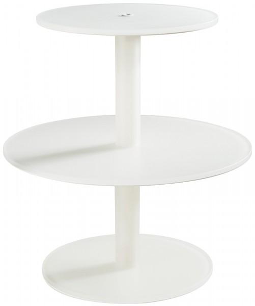 Kuchenständer m. 3 Etagen, Ø 28/39.5/28 cm, H: 40 cm, weiss
