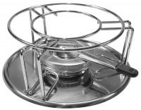 Fondue Rechaud-Set mit Brenner und Unterteller 23cm