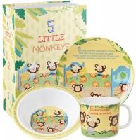 5 Little Monkeys Kindergeschirr 3tlg. Melamin