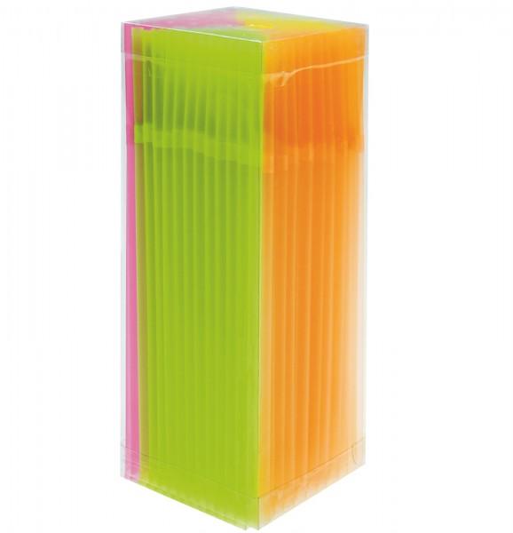 Trinkhalme 5x210mm, neon assortiert, Box à 225 Stk