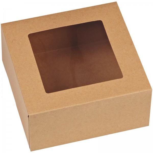 Cupcake Box für 4 Stück, Natur