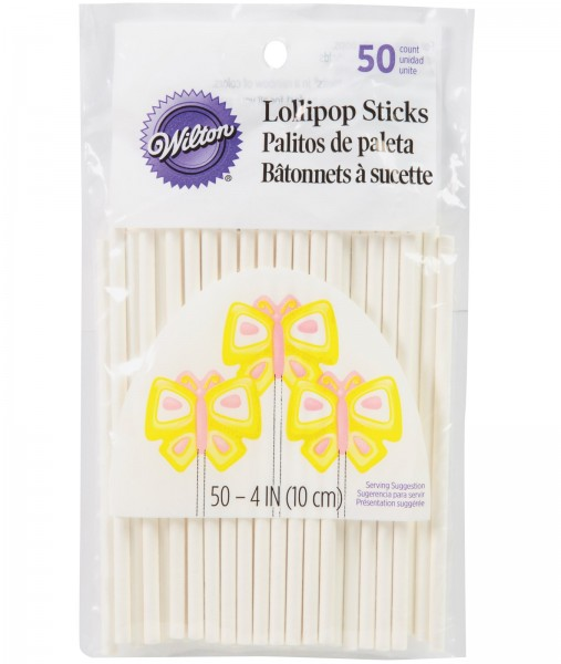 Lollipop Stäbchen, 50 Stk., 10 cm