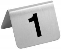 Tischschild Nummern 37 - 48
