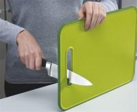 Slice&Sharpen Brett m. Schärfer, grün 30x22x1 cm