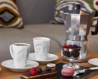 Henkeltasse VERGNÜGT Espresso
