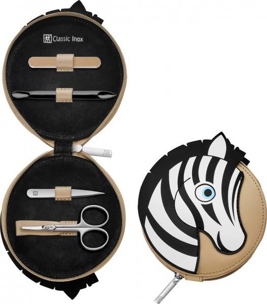 Jungle Reissverschluss-Etui 4-tlg., Zebra