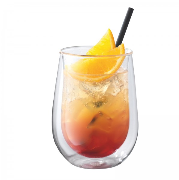 """Sorrento """"Bar"""" Longdrink Glas doppelwandig, 2er Set, 350 ml"""