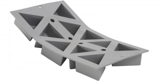 Elastomoule Backform 30x17.6cm für 10 Geo-Dreiecke