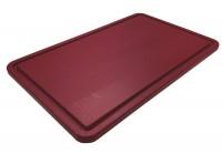 Schneidebrett GN 1/1 53x32.5cm h: 2cm rot, mit Saftrille