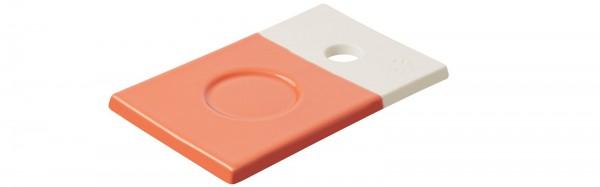 Color Lab Tablett rechteckig, 14x9x0.8 cm, orange