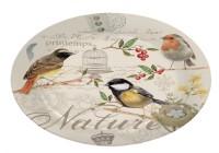Oiseau Glasplatte Ø 32 cm