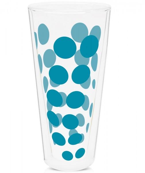 Dot Dot Latte Macchiato aqua blau, doppelwandig 35 cl