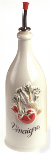 2x Provence Essigflasche, 25 cl, crème