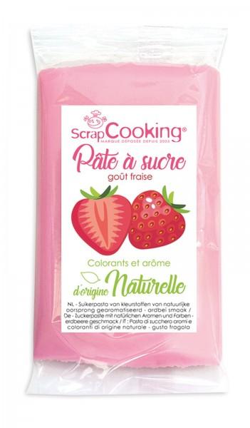 Aromatisierte Zuckerpaste rosa - Erdbeere 250g