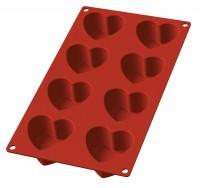 Backform 8er Herzform rot 30x17.5cm