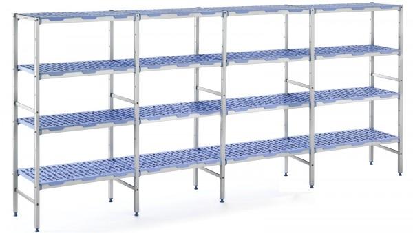 Regal mit 4 Ebenen, Kunststoff, 3812x500x1750mm