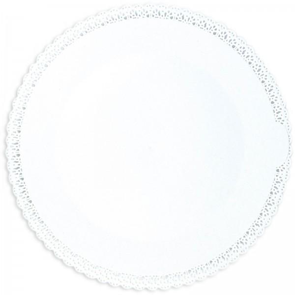 Kuchenplatte rund 1 Stk., weiss, Kunststoff, Ø 32 cm