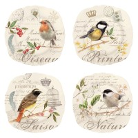 Oiseau 4er Set Dessertteller Ø20 cm in GB