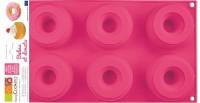 6er Silikonbackform Donuts