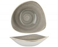 Stonecast Grau Triangel Teller tief 18.5cm