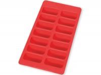 Eiswürfelbehälter, rechteckig, rot
