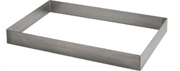 Patisserierahmen 57x37cm H: 3cm Edelstahl