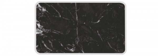 Osmos Tablett Marmor Optik/schwarz 28×20×0.4 cm