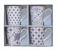 """Coffee Mania 4er Set Kaffebecher in GB,""""Blau"""",300ml"""