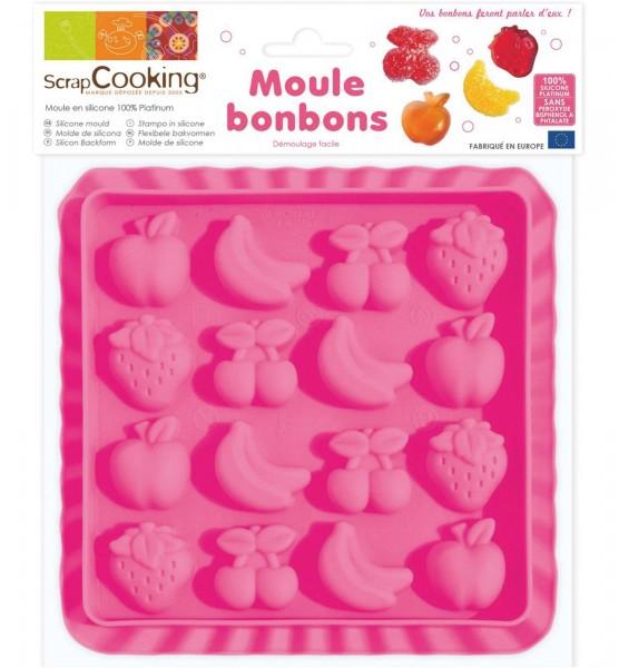 """Silikonform für Bonbons """"Früchte"""""""