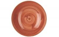 Stonecast Orange Teller coupe tief 24.8cm