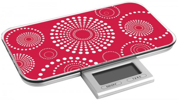 Küchenwaage digital rot bis 10kg 23x13x2cm