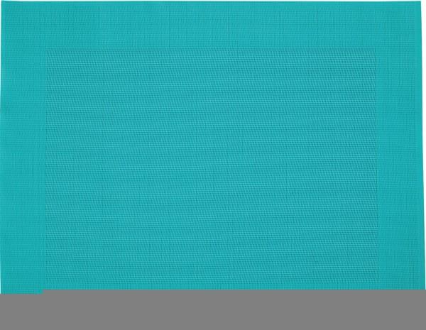 """Tischset """"Rahmen"""", eckig, aquamarin, 32x42 cm"""