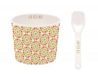 """Ice Cream Porzellan Eisbecher in GB, """"Blüten"""", Ø 8.5 cm"""