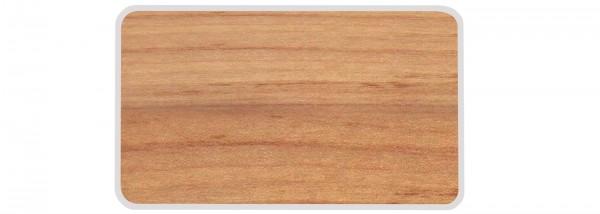 Osmos Servierbrett Buchenholz Optik/weiss 23.5×16×0.4 cm