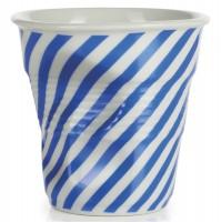 Cappuccino Knitterbecher 18 cl, blau/weiss diagonal gestreif