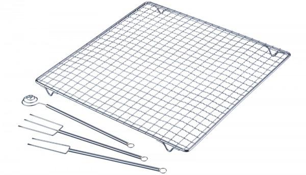 Pralinen-Set 4 tlg., 30x30 cm, Edelstahl
