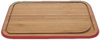 Pebbly Schneidebrett XL, rot, 40.5 x 33 cm